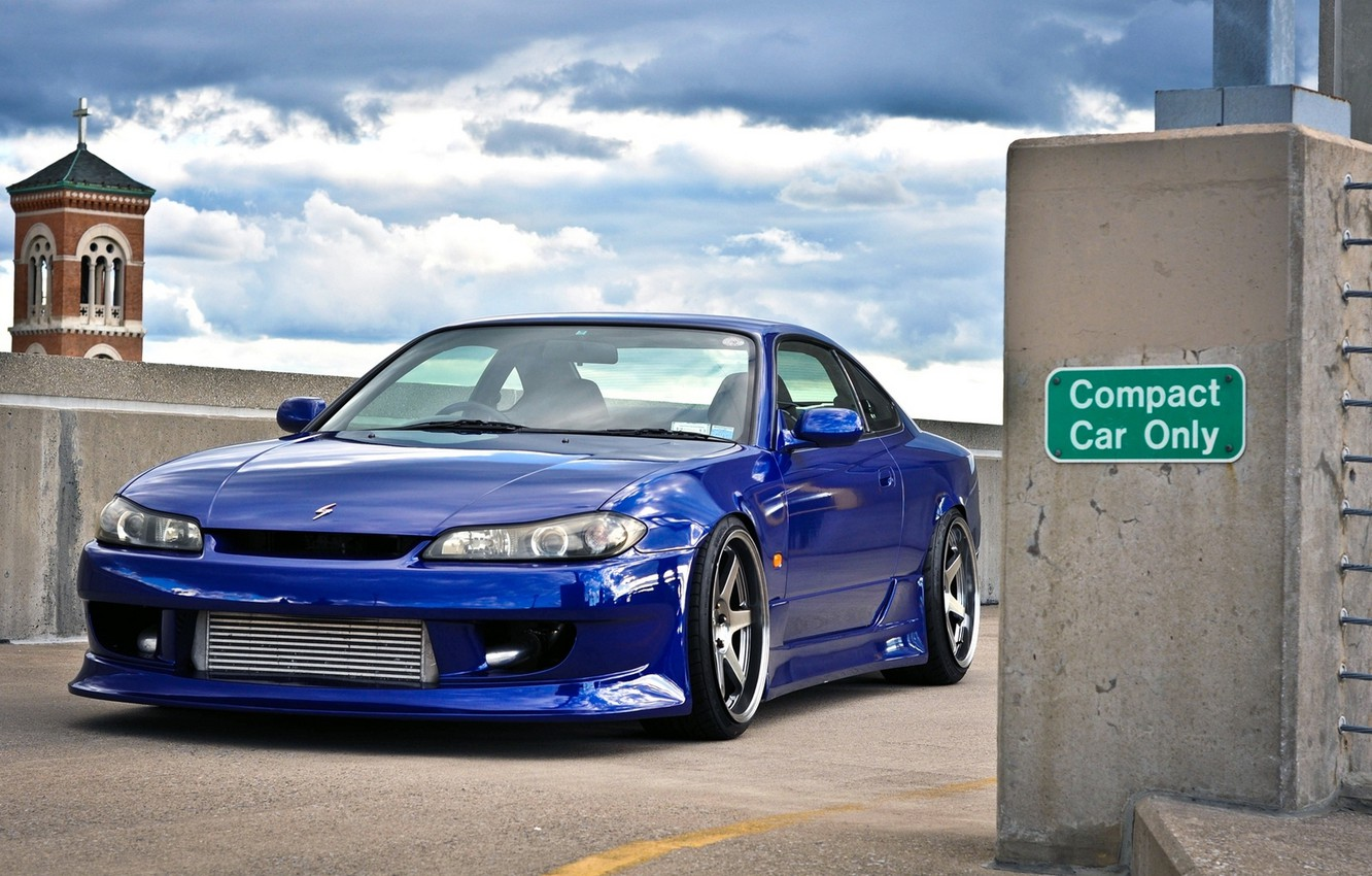 Photo wallpaper Machine, Blue, Nissan, S15, Silvia, Nissan, Car, Car, Wallpapers, Tuning, Beautiful, JDM, Wallpaper, The front, …