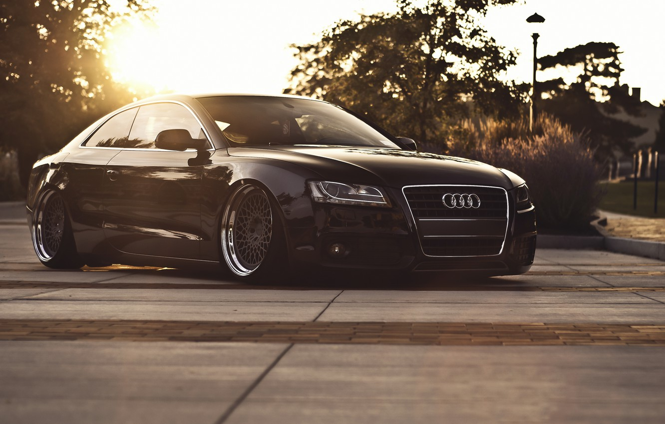 Photo wallpaper car, audi, stance, hq Wallpapers