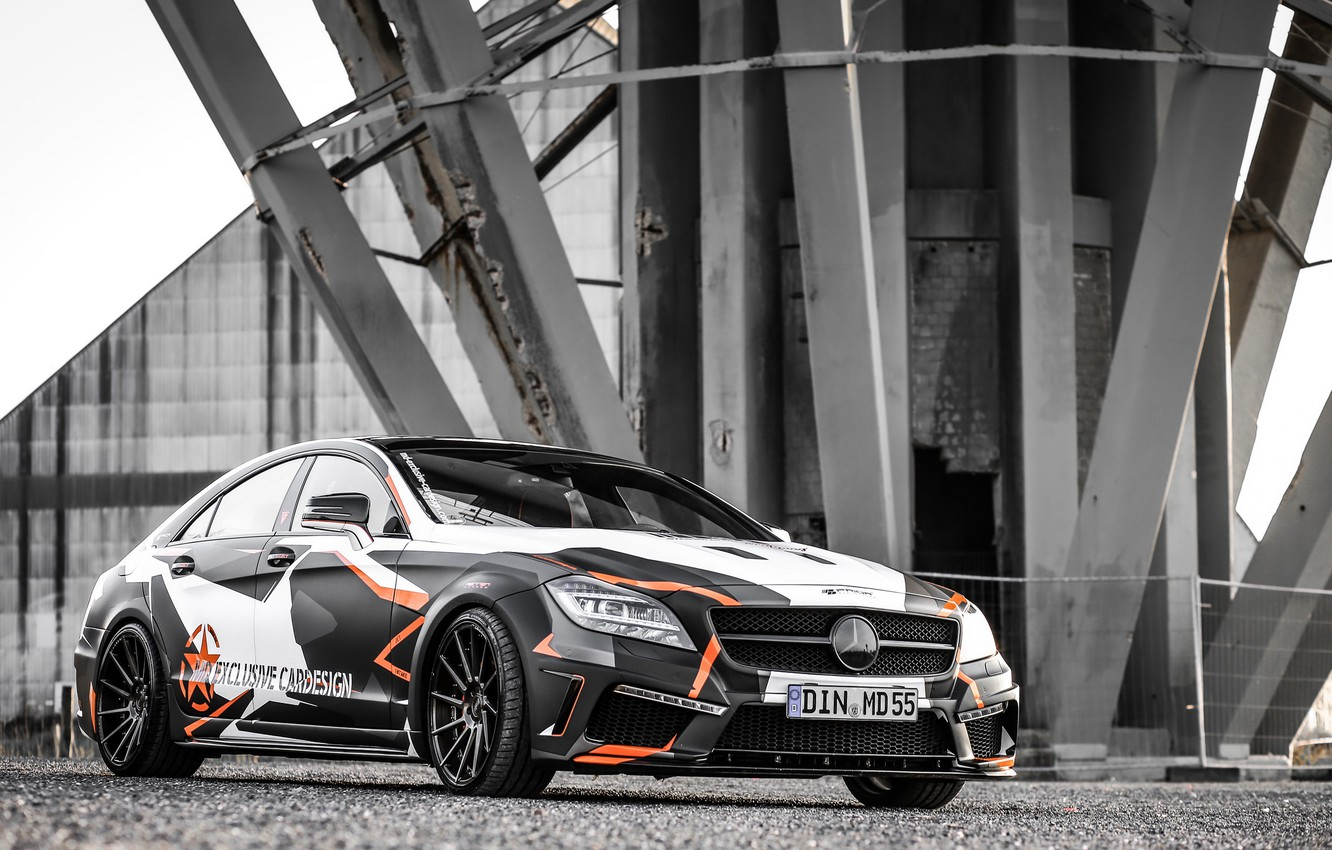 Photo wallpaper Mercedes-Benz, tuning, CLS 500, M&D Exclusive Cardesign, Black Edition Stealth