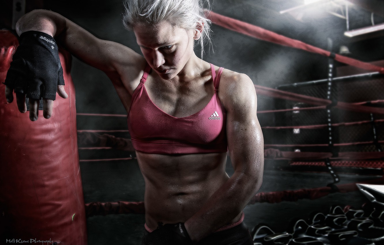Photo wallpaper Girls, Boxer, addidas