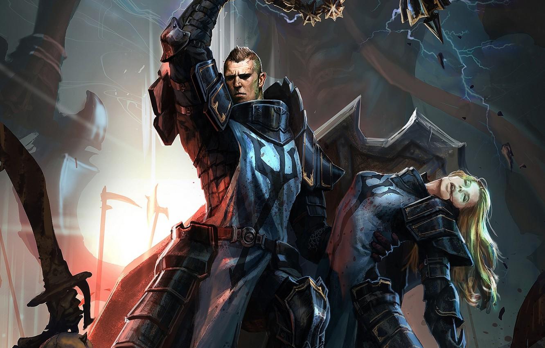 Wallpaper Diablo 3, crusader, rescue, reaper of souls images