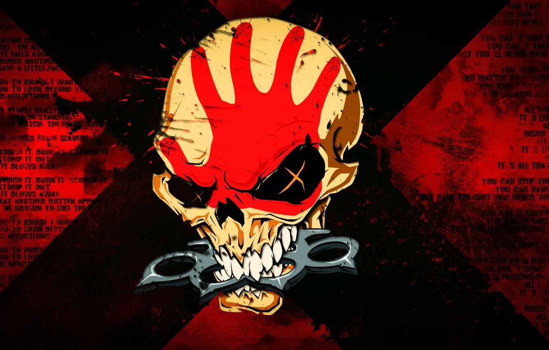 Photo wallpaper skull, metal, metal, Five Finger Death Punch, 5FDP, FFDP, 5 Finger Death Punch, Groove metal