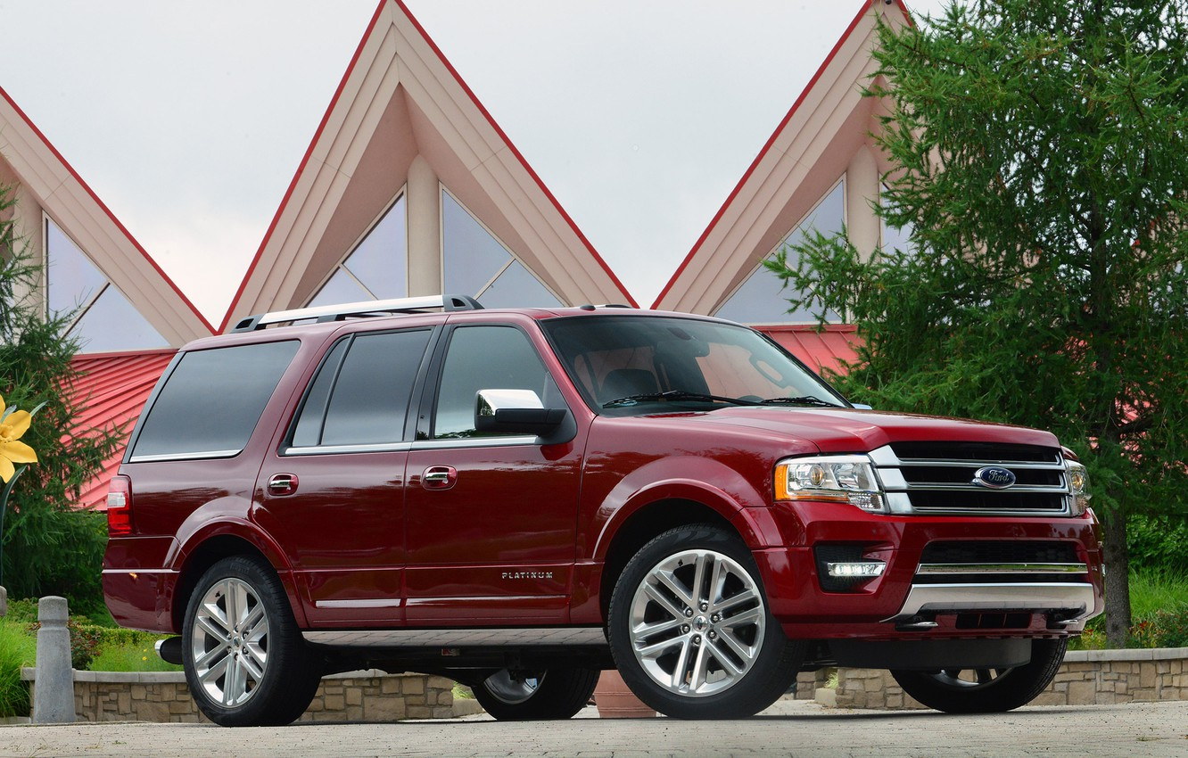Photo wallpaper Ford, Red, Expedition, Platinum