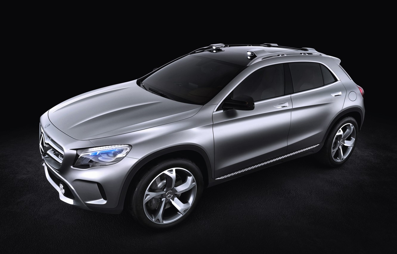 Photo wallpaper Concept, Auto, Wheel, Machine, Mercedes, Silver, Jeep, Mercedes Benz, Side view, GLA