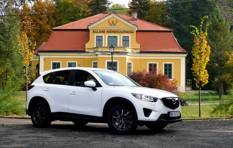 Photo wallpaper white, jeep, white, SUV, Mazda CX-5