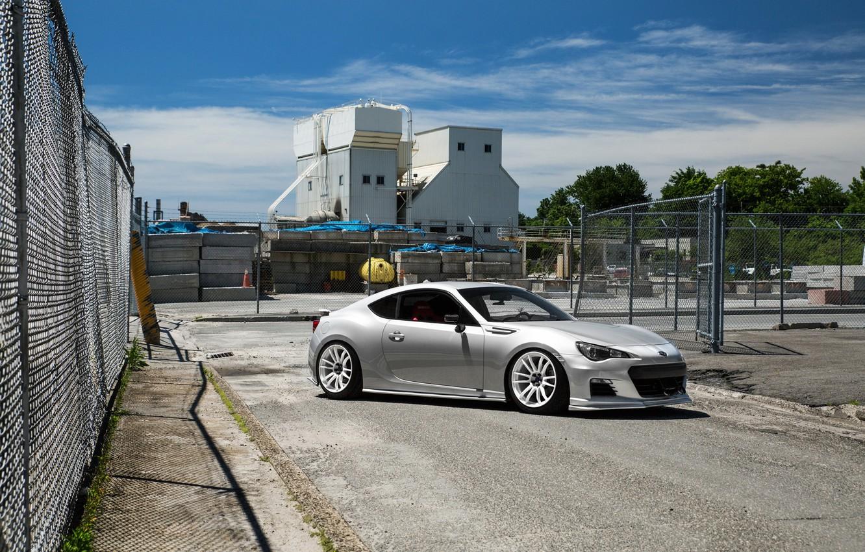 Photo wallpaper Subaru, White, BRZ, Wheels, Factory