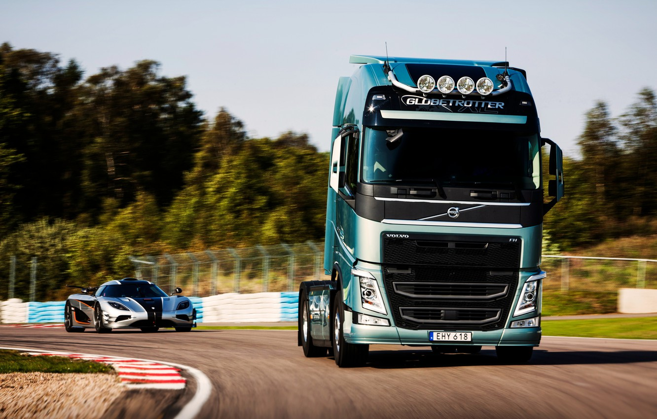 Photo wallpaper Koenigsegg, volvo, volvo fh, One:1
