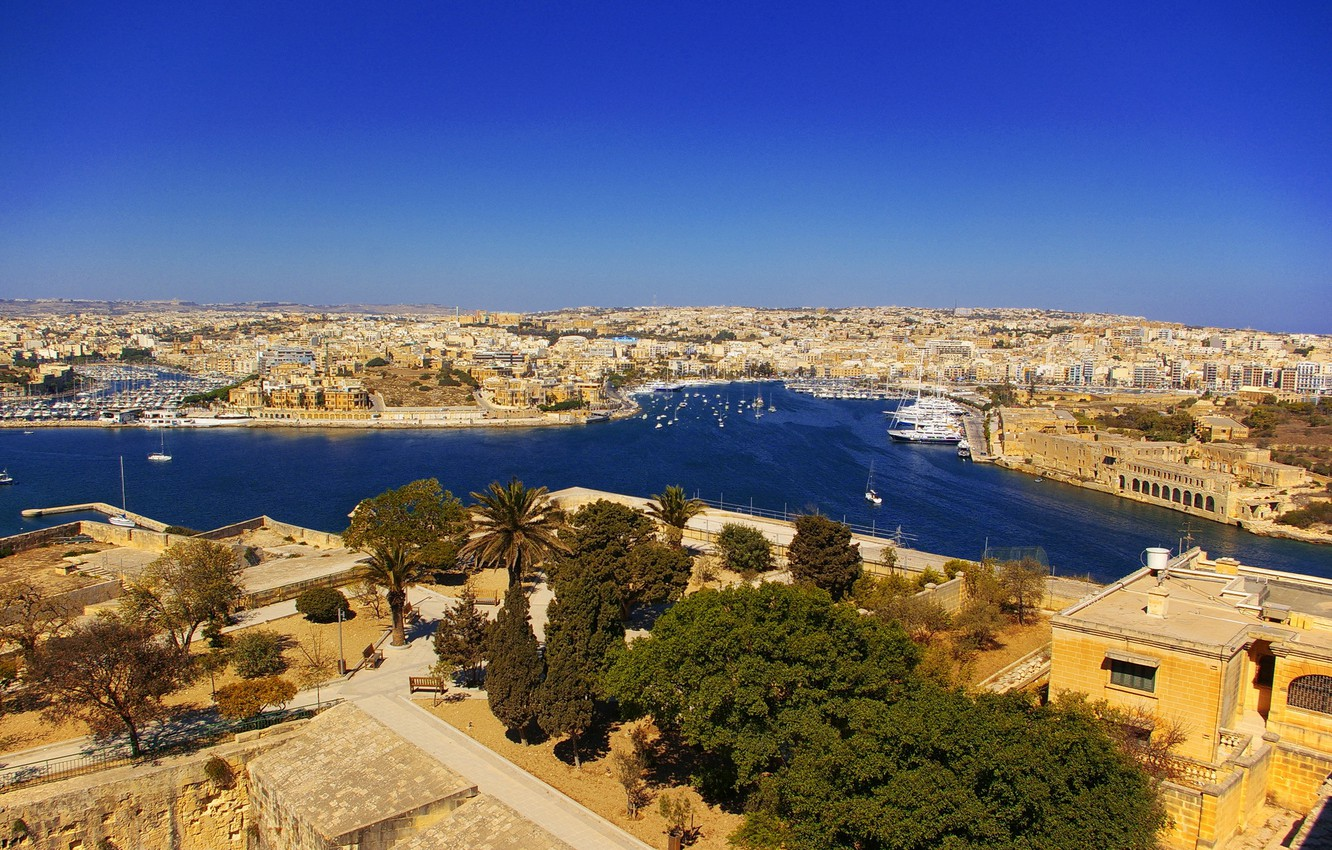 Photo wallpaper the city, home, City, architecture, panorama., Malta, Malta, Zabbar