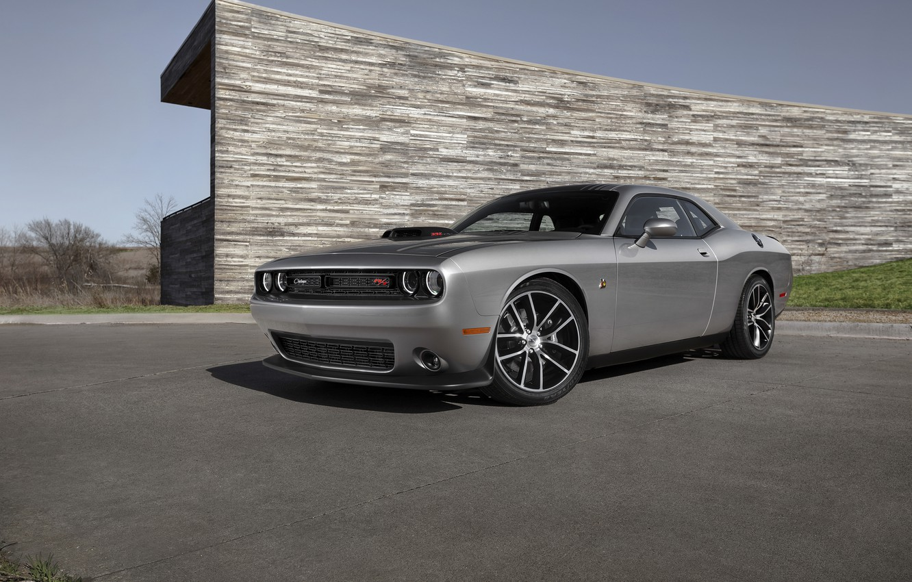 Photo wallpaper Dodge, Challenger, Dodge, 392, Challenger, HEMI, Shaker, 2015, Scat Pack