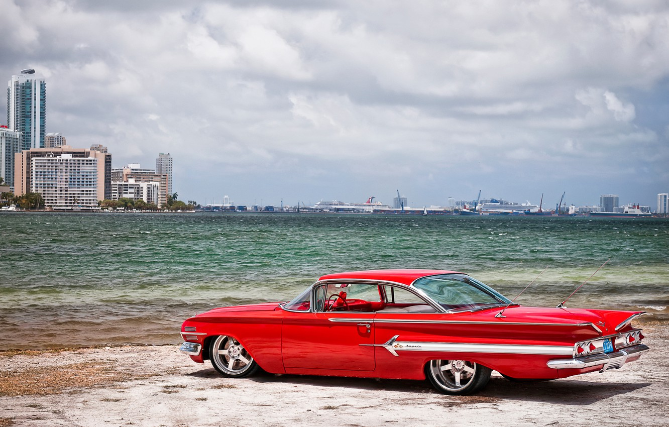 Photo wallpaper cars, 1960, chevrolet, cars, Chevy, auto wallpapers, car Wallpaper, auto photo, Impala
