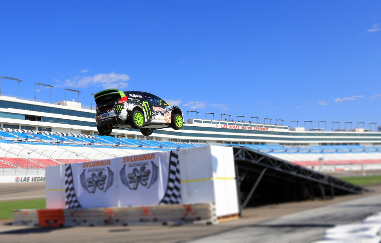 Photo wallpaper Ford, Auto, Machine, Speed, People, Ford, Day, Ken Block, Rally, Fiesta, rallycross, Tribune, In The …