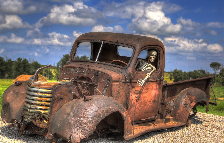 Photo wallpaper machine, the situation, skeleton