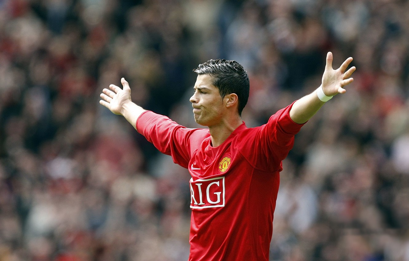 Wallpaper Football Star Cristiano Ronaldo Celebrity Player Ronaldo Manchester United The Celebration Manchester United Cristiano Ronaldo Ronaldo Images For Desktop Section Sport Download
