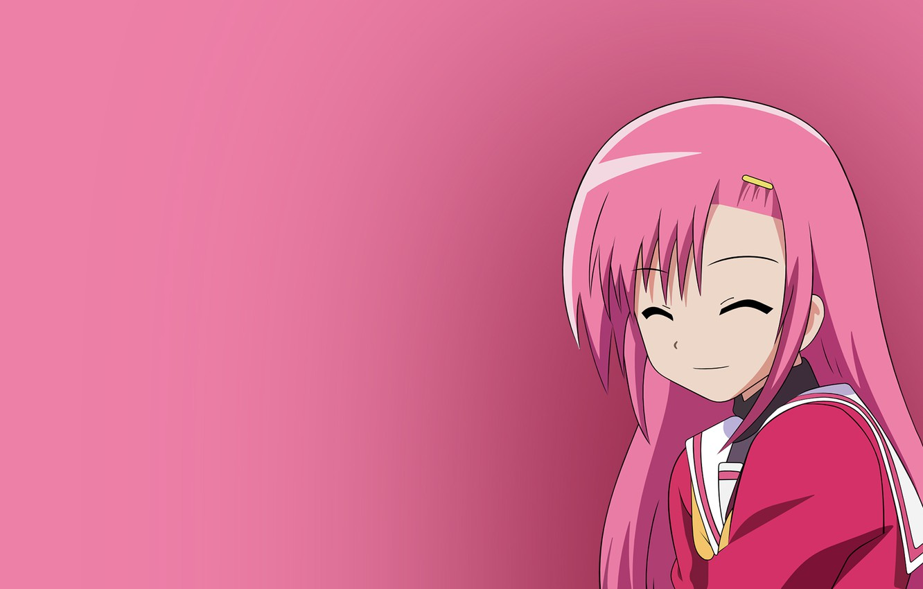 Photo wallpaper Girl, Figure, Smile, Girl, Anime, Art, Anime, quality, Bright, Laughter, Fun, Pink color, High