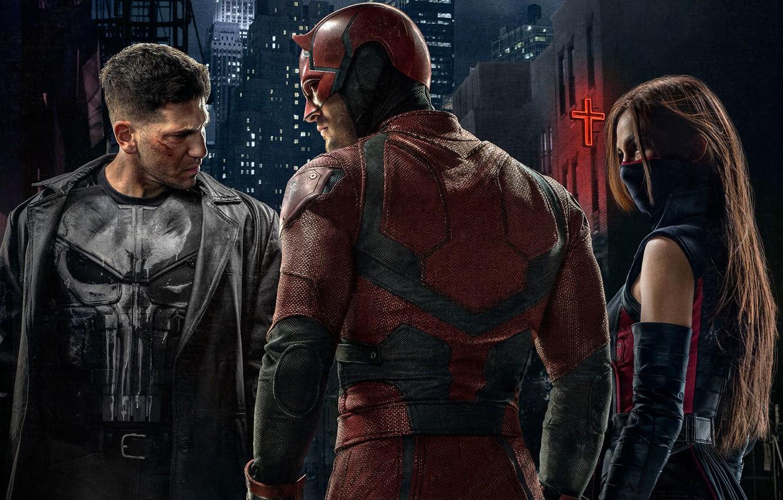 Wallpaper Daredevil Daredevil The Punisher Elektra The