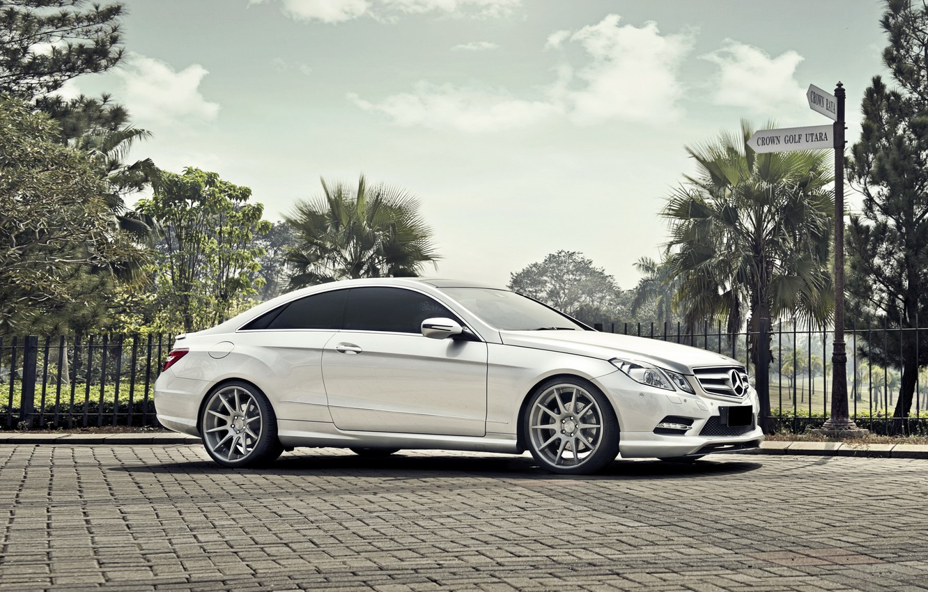 Photo wallpaper auto, coupe, Mercedes, Mercedes-Benz E-Class Coupe