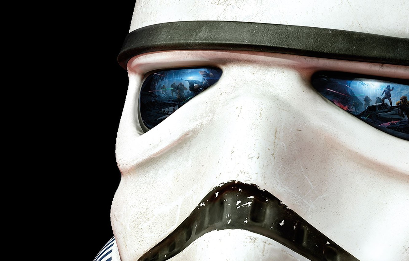 Photo wallpaper Look, Electronic Arts, DICE, Attack, Stormtrooper, Star Wars: Battlefront