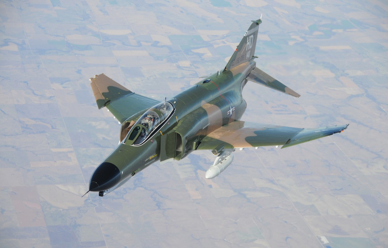 Photo wallpaper flight, F-4, Phantom II, US Air Force, Holloman AFB
