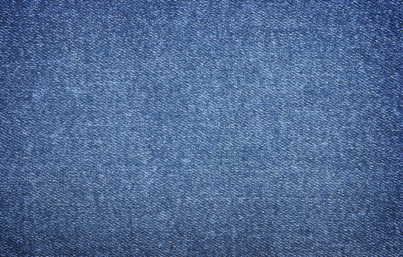Photo wallpaper blue, background, jeans, texture, fabric, material