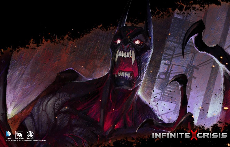 Photo wallpaper DC comics, Warner Games, Infinite Crisis, Nightmare Batman