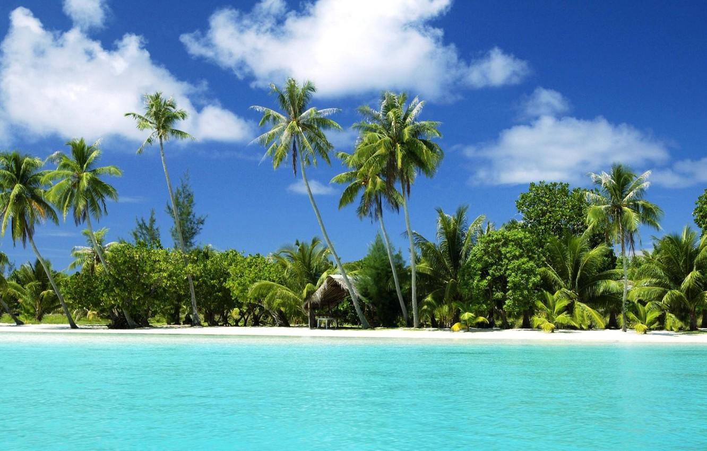 Photo wallpaper Nature, Sea, Beach, Summer, Tropic
