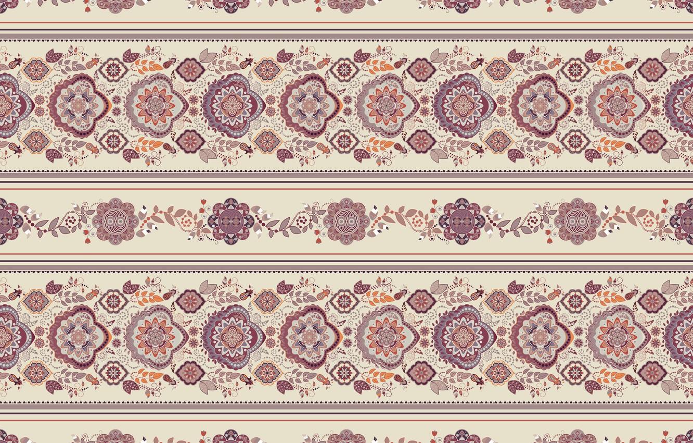 Photo wallpaper pattern, ornament, beige