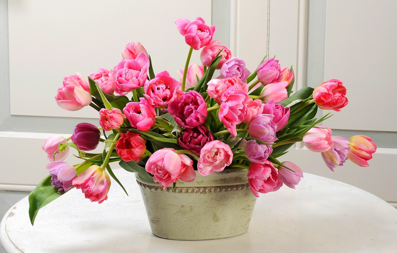 Wallpaper Flowers Bouquet Spring Tulips Flowers Tulips Spring Bouquet Images For Desktop Section Cvety Download