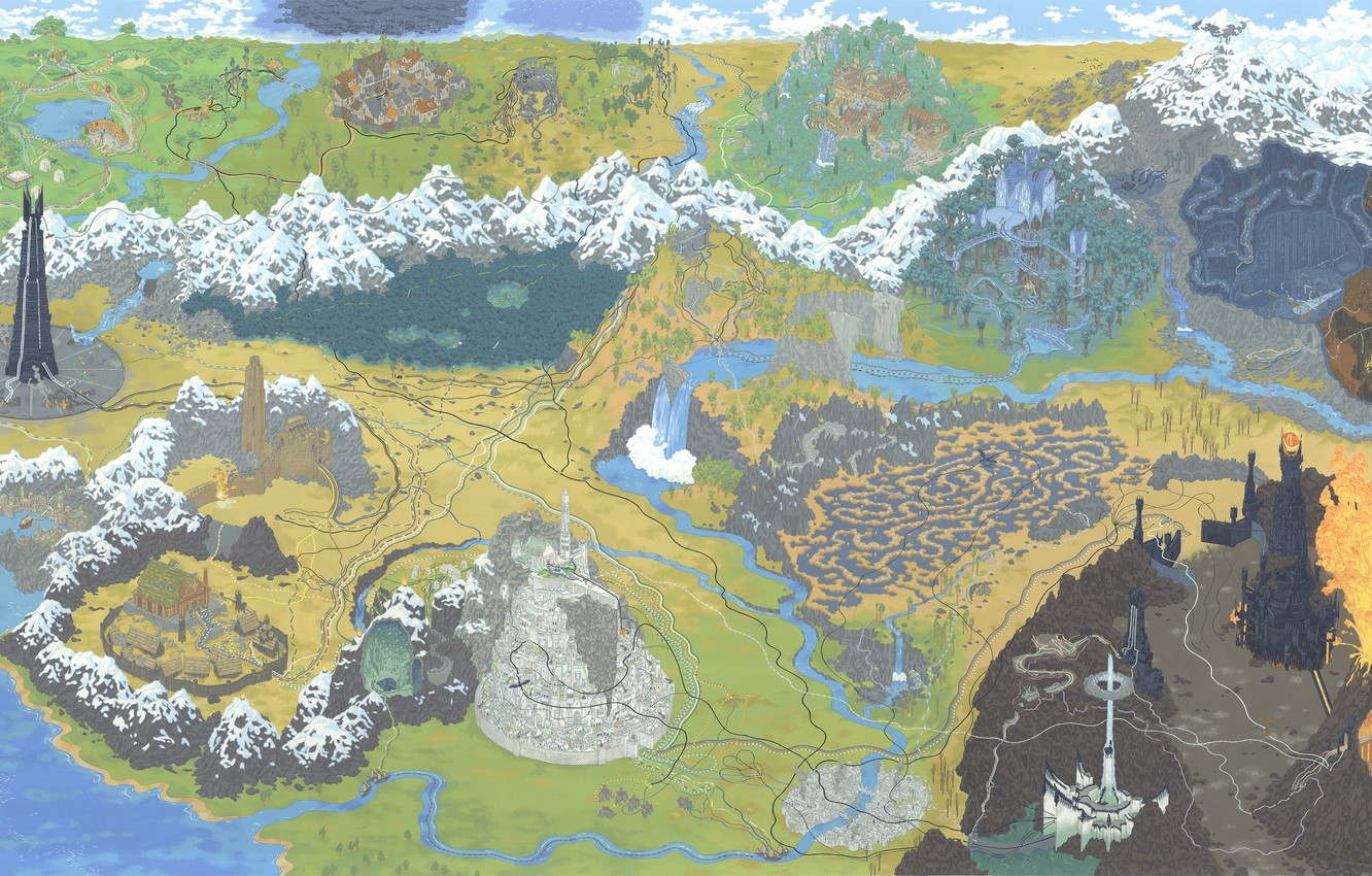 Wallpaper Figure Map The Lord Of The Rings Art The Lord Of The