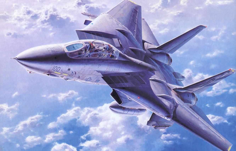 Wallpaper War Art Painting Jet F 14 Tomcat Images For Desktop Section Aviaciya Download