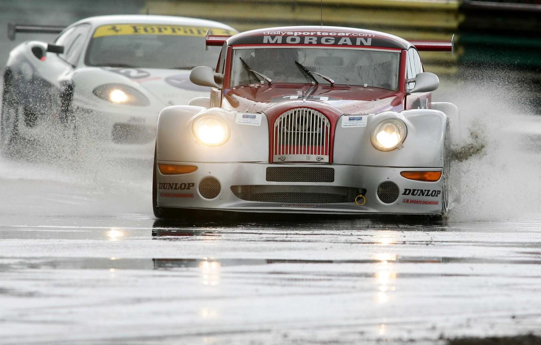 Photo wallpaper squirt, track, Race, car, Morgan, Aero 8, British GT
