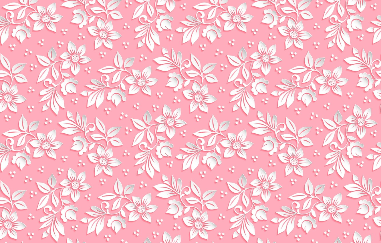 Wallpaper Flowers Background Pink