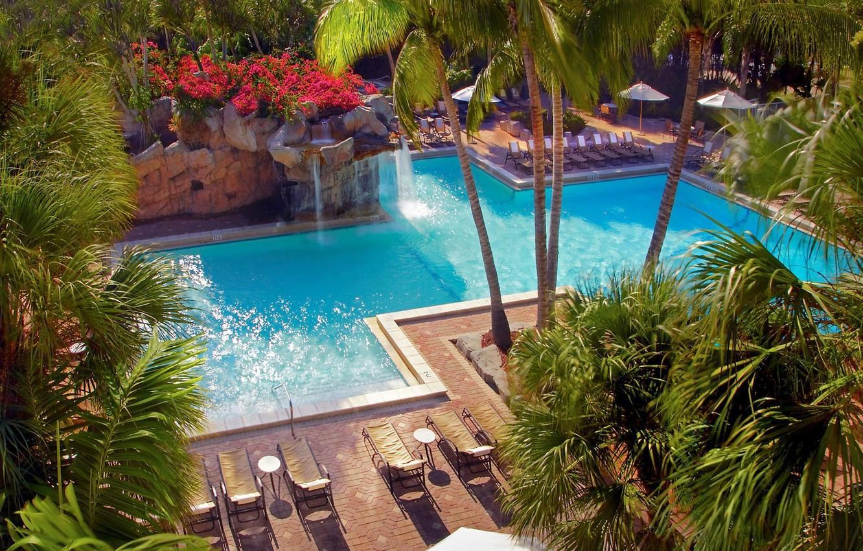 Photo wallpaper World, USA, Holiday, Florida, Swimming pool, Resort, Weston