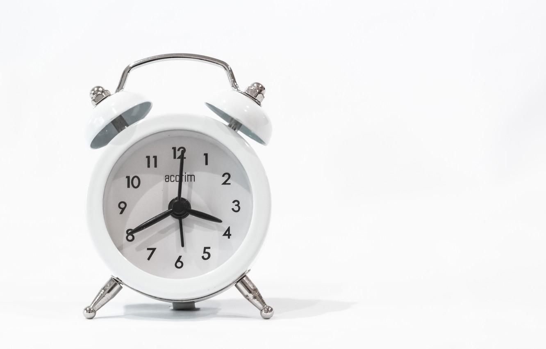 Photo wallpaper white, background, arrows, watch, alarm clock, figures, dial