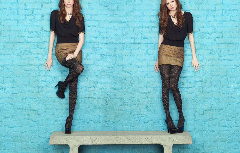 Wallpaper Look Girl Sweetheart Skirt Actress Beauty