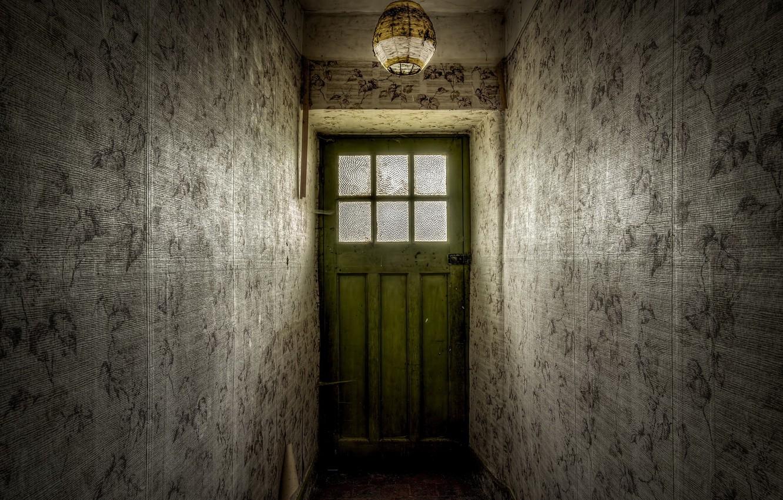 Photo wallpaper room, wall, the door