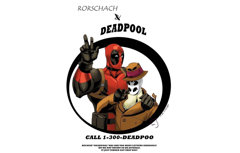 Photo wallpaper Watchmen, Rorschach, keepers, Deadpool, comic, MARVEL, Rorschach, Marvel, Deadpool