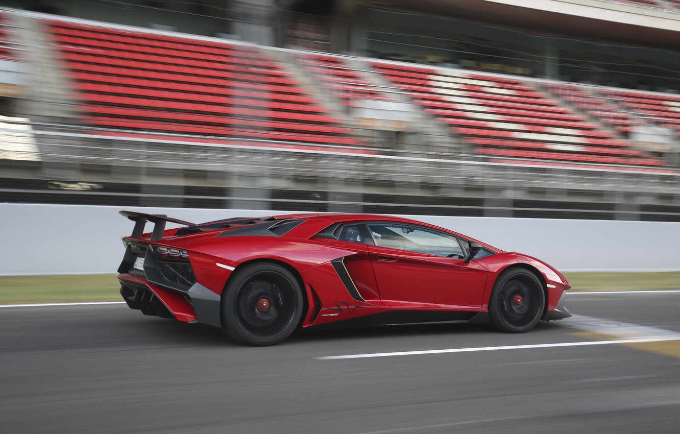 Photo wallpaper machine, red, speed, Lamborghini, Aventador, Lamborghini, LP 750-4, Superveloce