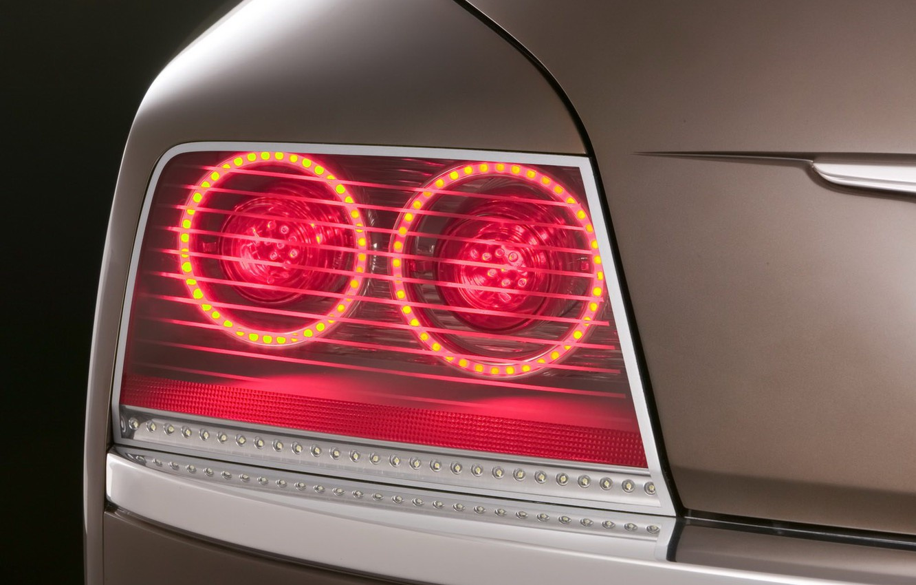 Photo wallpaper Concept, round, point, Headlight, Imperial, Chrysler, LEDs