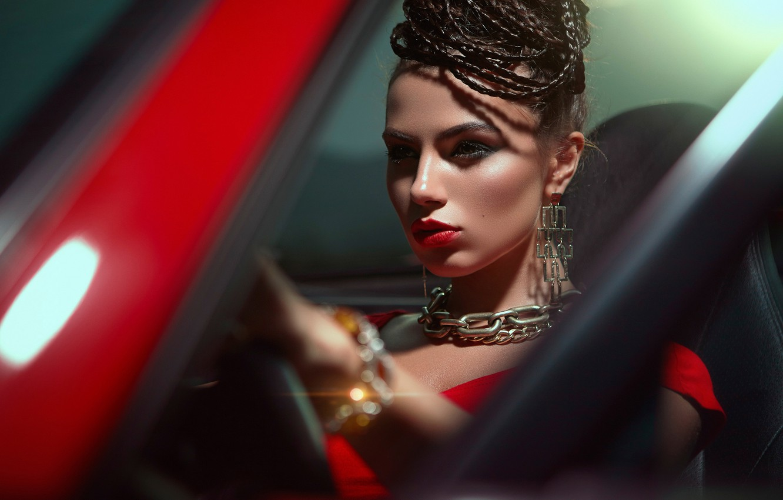 Photo wallpaper makeup, chain, Daniel Ilinca, Cristina