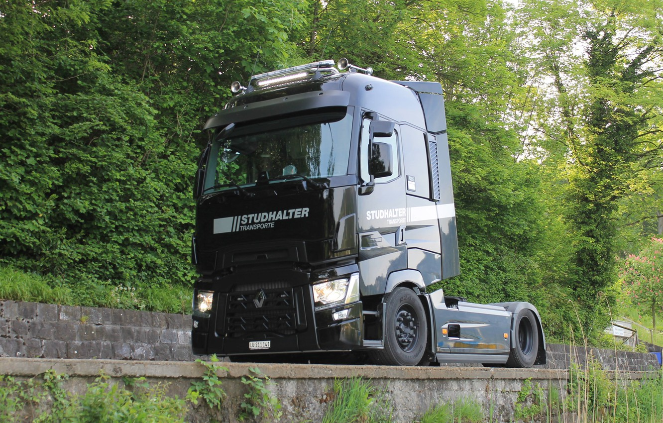 Photo wallpaper Renault, Tractor, T520, High Sleeper Cab
