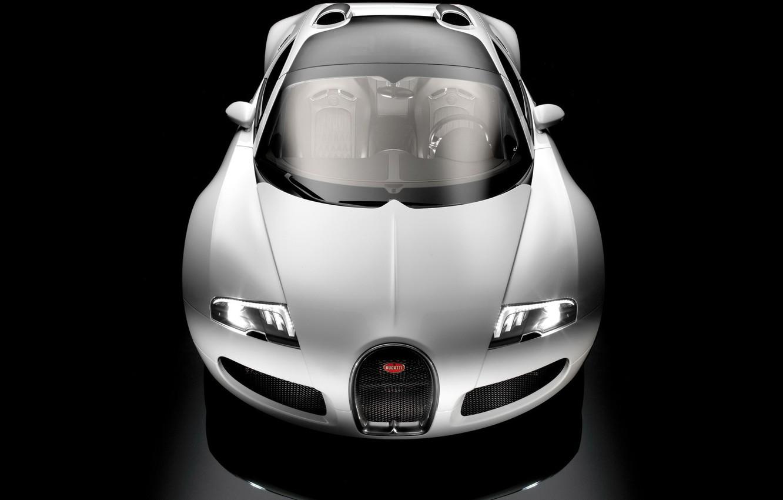 Photo wallpaper white, black, Bugatti