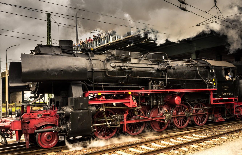 Photo wallpaper Germany, The engine, Locomotive, Train, Old appliances