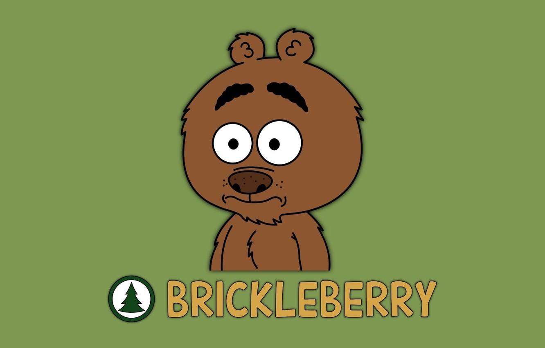 Photo wallpaper bear, bear, Cartoon, Malloy, Bilberry, Brickle berry