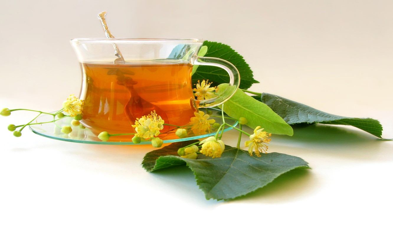 Photo wallpaper tea, leaves, inflorescence