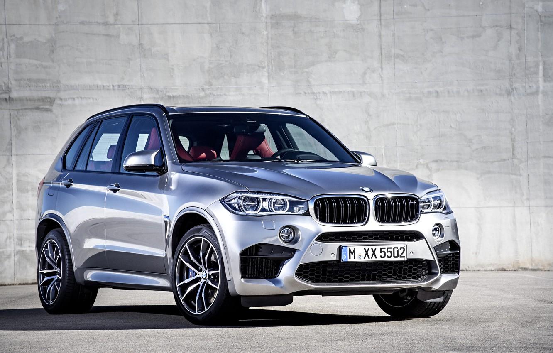 Photo wallpaper photo, BMW, Grey, Car, 2015, X5 M, Metallic