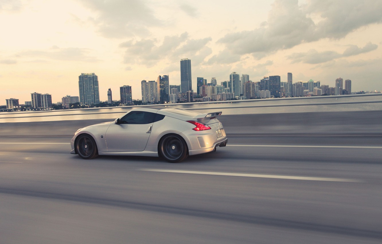 Photo wallpaper Auto, Sport, Tuning, Speed, Race, Track, Auto, Nissan 370Z, metallic grey, Nissan 370