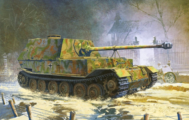 Photo wallpaper figure, the Germans, sau, the Wehrmacht, self-propelled artillery, tank fighter, elefant, Elefant, Sd.Car.184