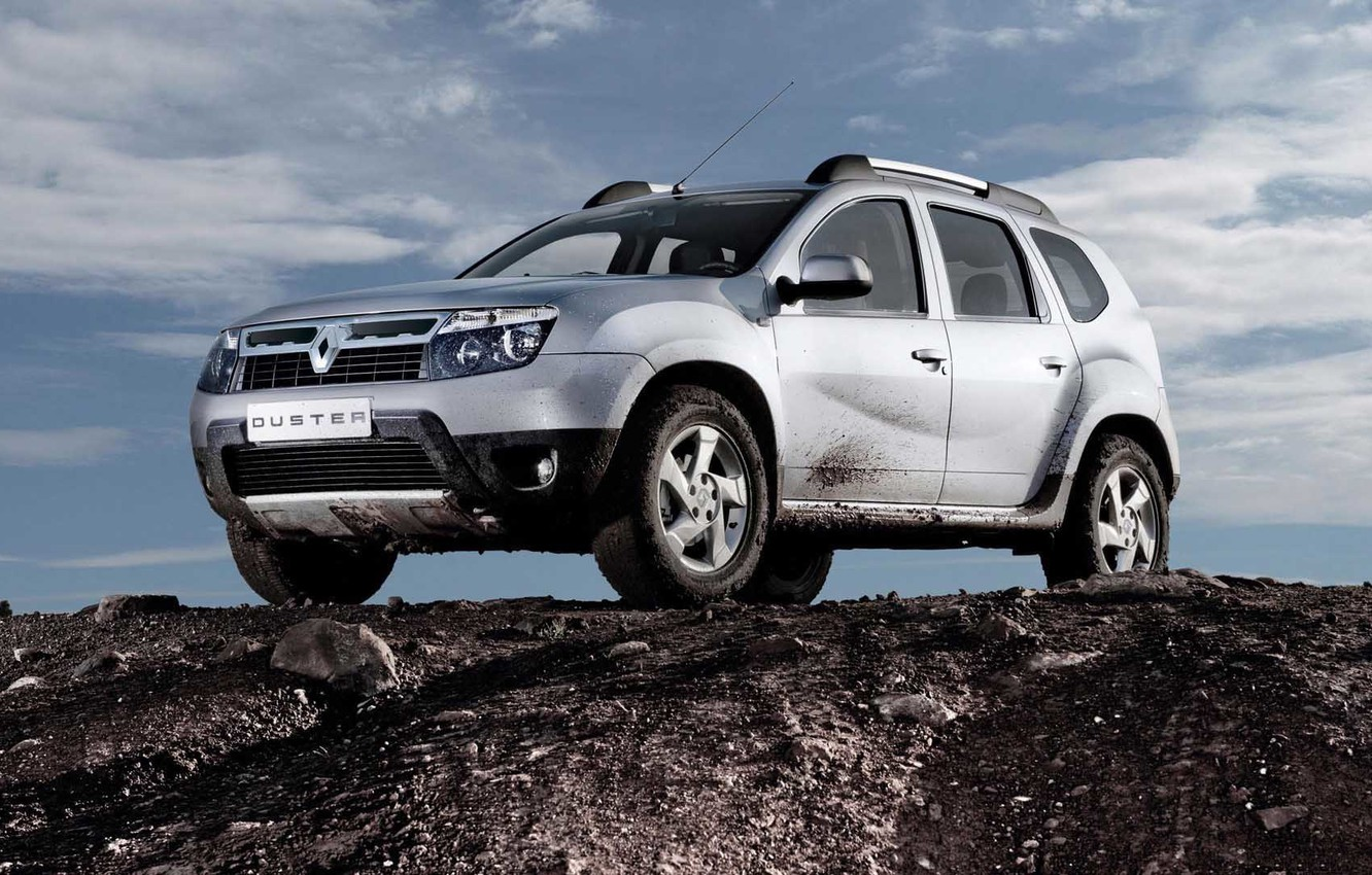 Photo wallpaper dirt, Renault, Reno, crossover, Duster, duster, compact