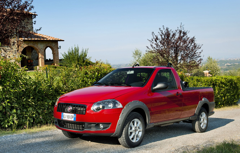 Photo wallpaper landscape, pickup, Fiat, Strada