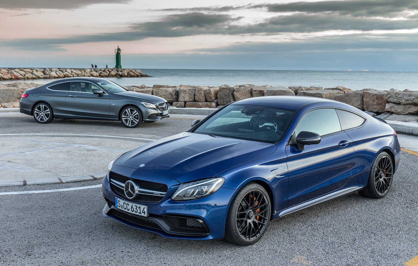 Photo wallpaper coupe, Mercedes-Benz, Mercedes, Coupe, C-Class, C205